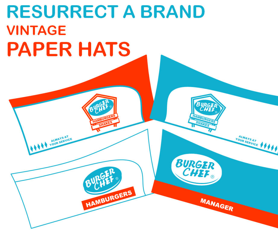 Resurrect a Brand - Burger Chef - Part 6 - Vintage Food Service Hat