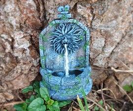 聚合物粘土狮子喷泉用树脂或热胶