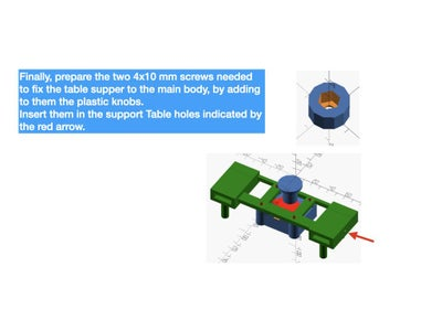 PREPARE THE ROTATING MICROSCOPE TABLE