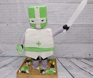 How to Make a Stand-Up 3D CASTLE CRASHER KNIGHT Cake