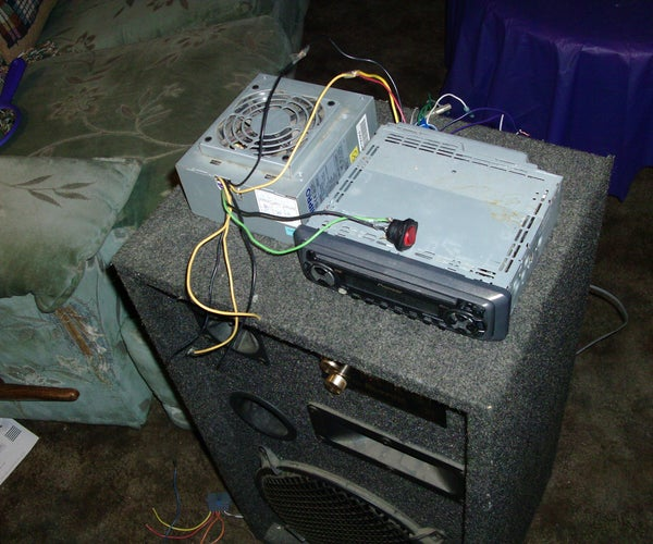 Turn Computer Power Supply Into Car Audio