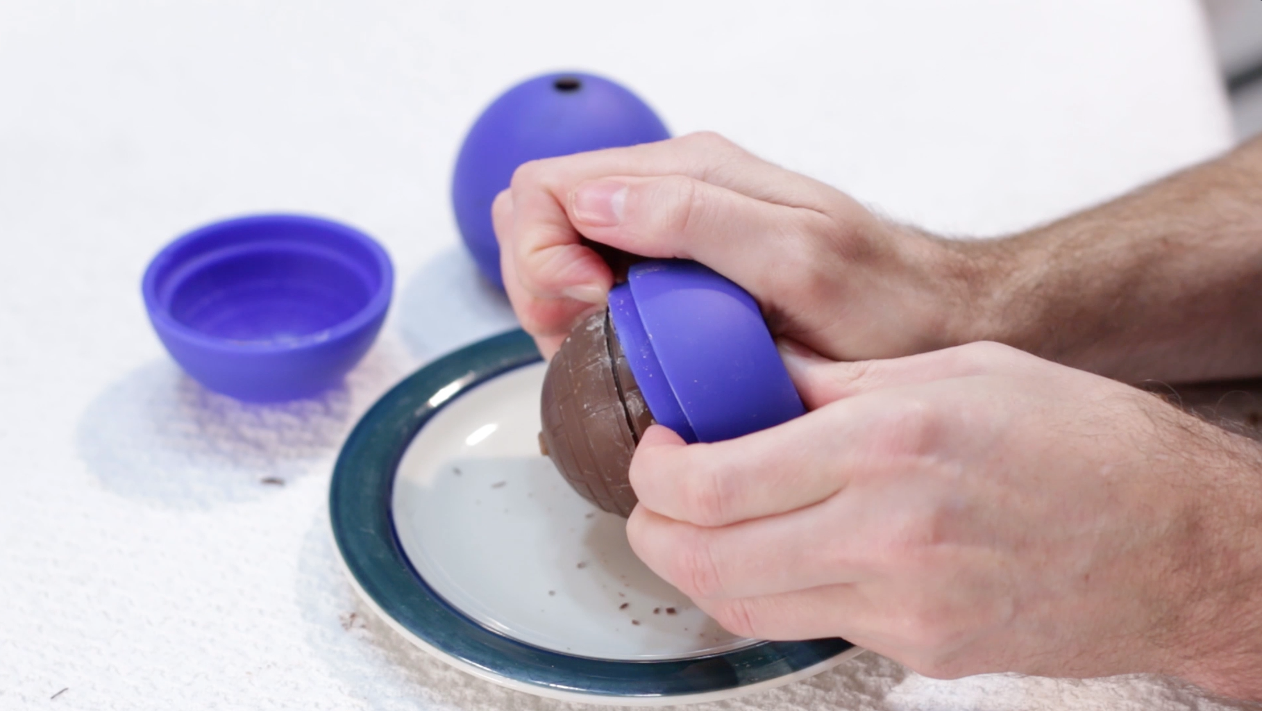 Remove the Chocolate Death Star From Its Mold