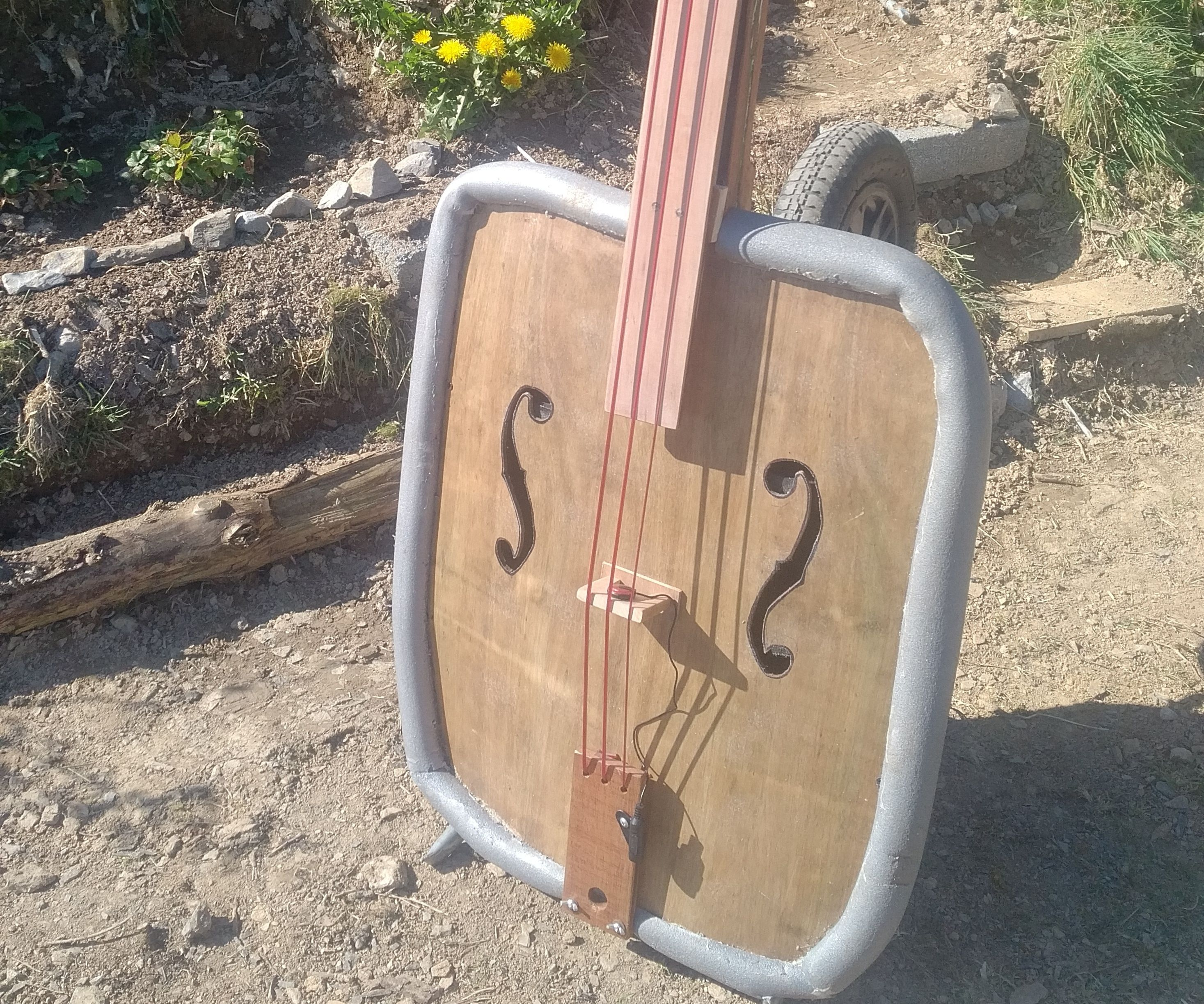 3-string Wheelbarrow Upright Bass