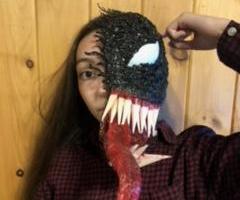 Half Venom Mask