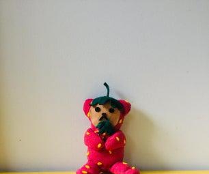 温暖的草莓泰迪熊