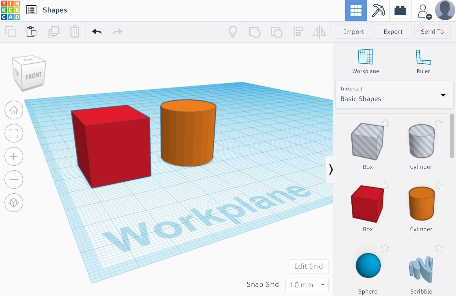 Tinkercad and Shapes