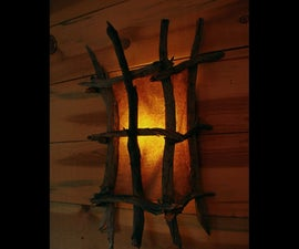 Rustic Wall Sconce From Natural Branches