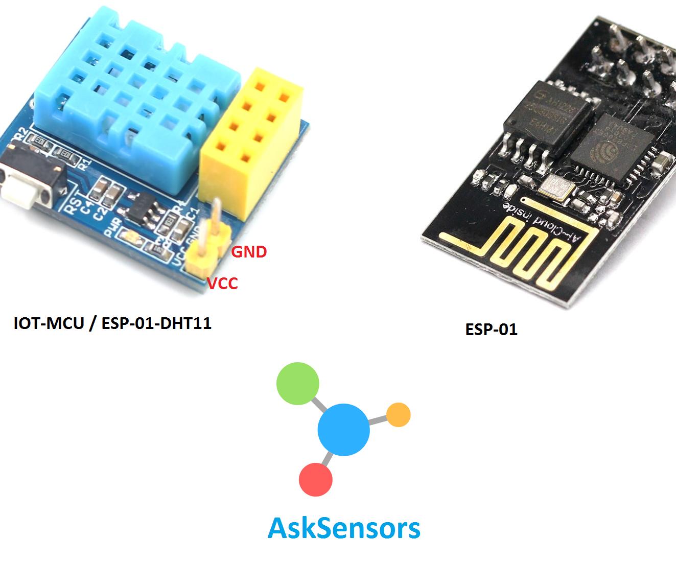 IoT-MCU Monitoring Using the AskSensors IoT Platform