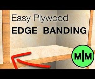 如何将木边缘绷带涂抹在胶合板上。