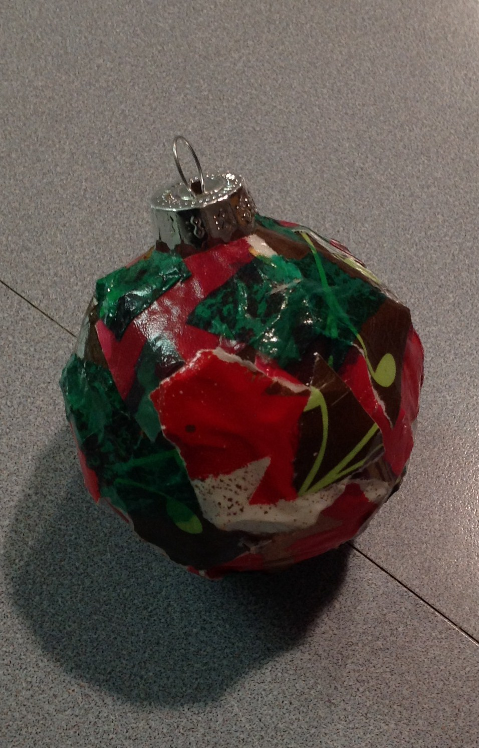 Recycled Wrapping Paper Ornament