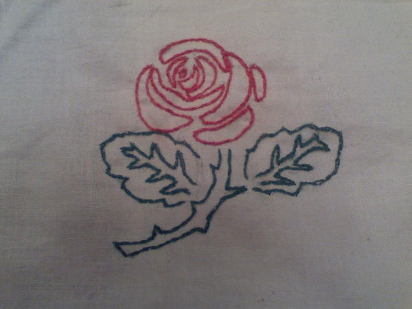 How to Hand Embroider a Rose