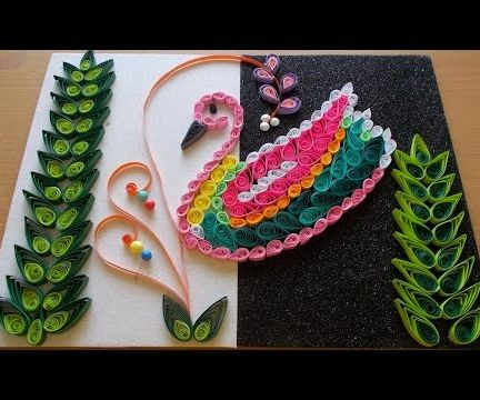 DIY Home Decor With Paper Quilling Art : Amazing DIY Room Decor With Bird Quilling Pattern