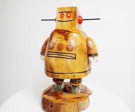 Carved Wood Instructables Robot