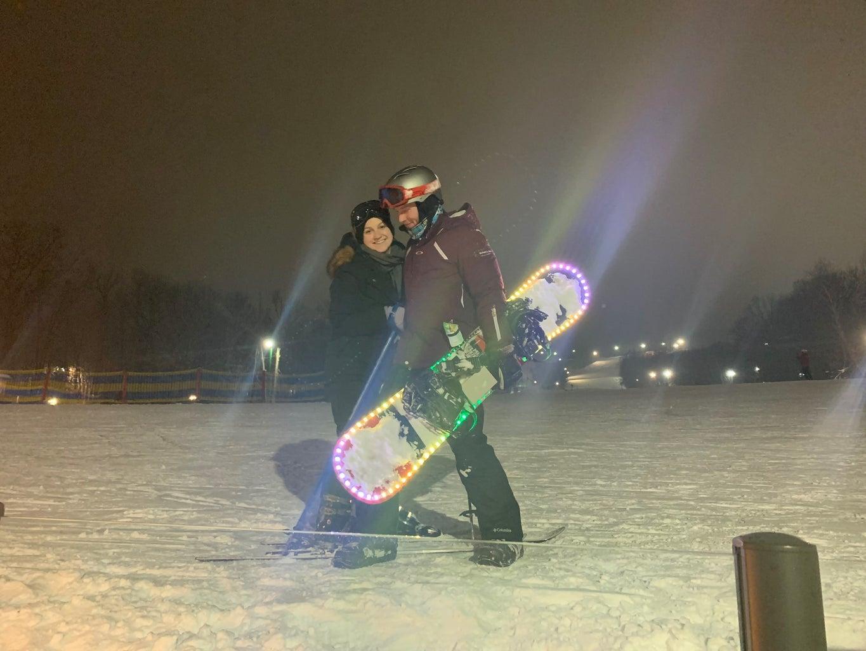 Powdered Lights (LED Music Snowboard)