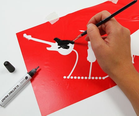 Stencilling Graphics With Electric Paint