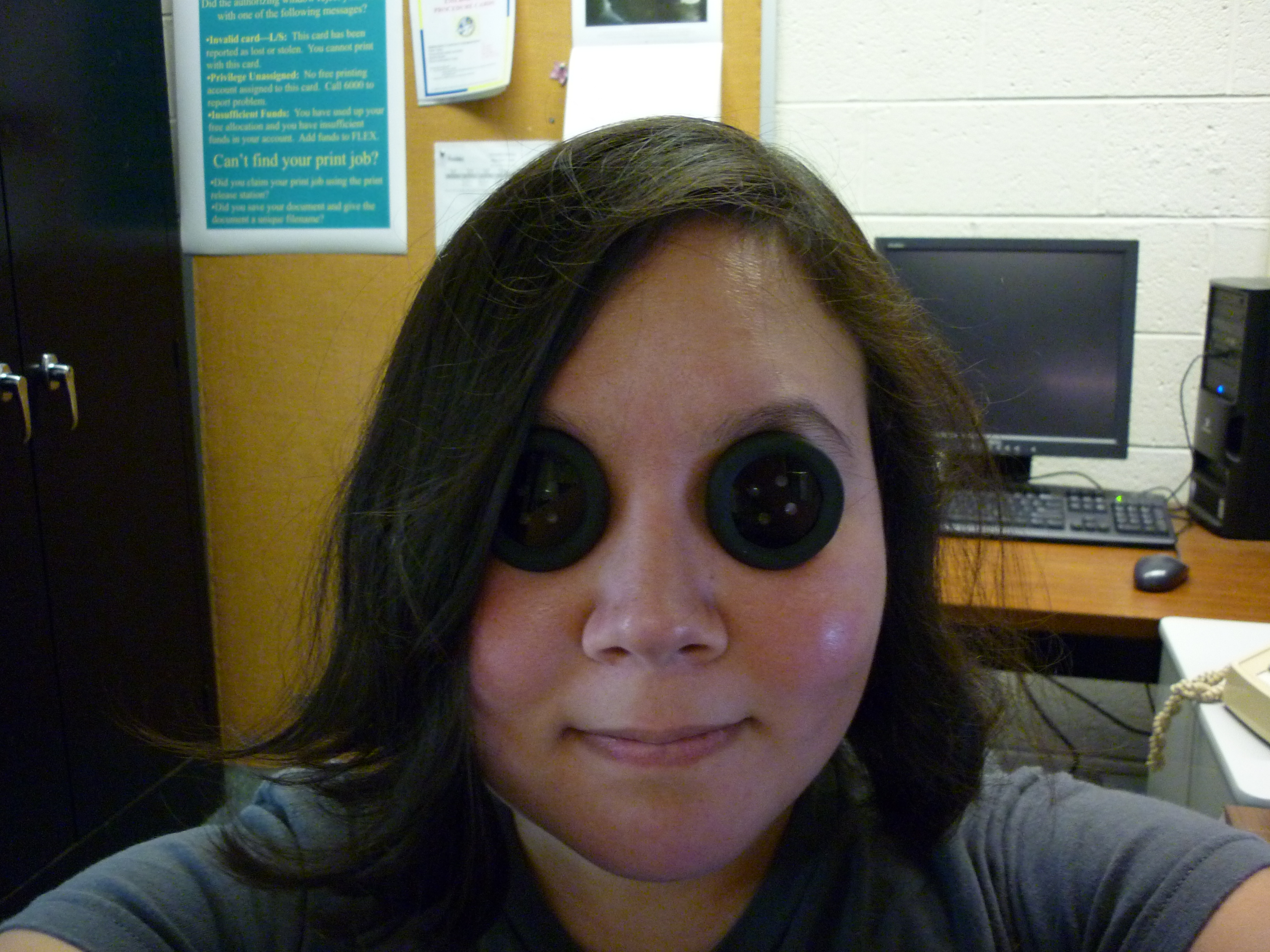 Coraline Button Eyes (see through and prescription)