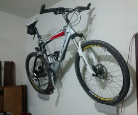 Inexpensive and Minimalist Bicycle Wall Mount