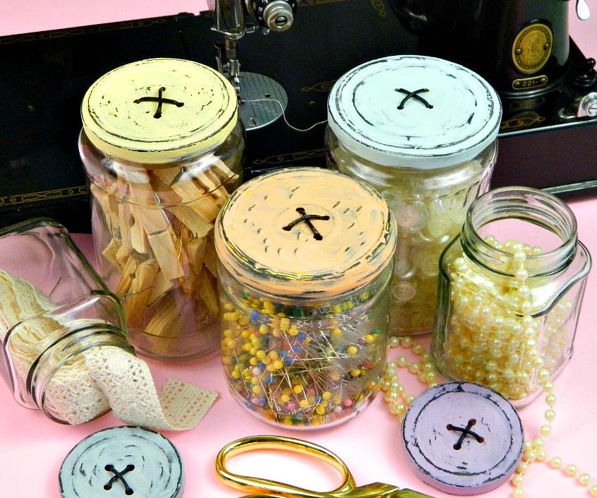 Button Lid Jars