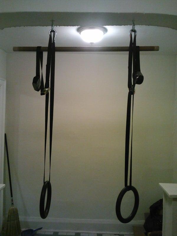 Chinup Bar and Gymnastic Rings