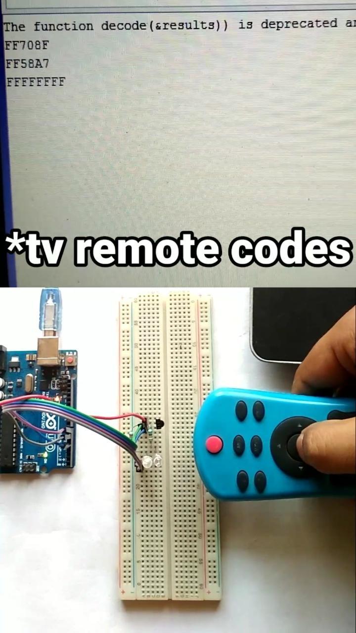 Get TV Remote Data With Arduino