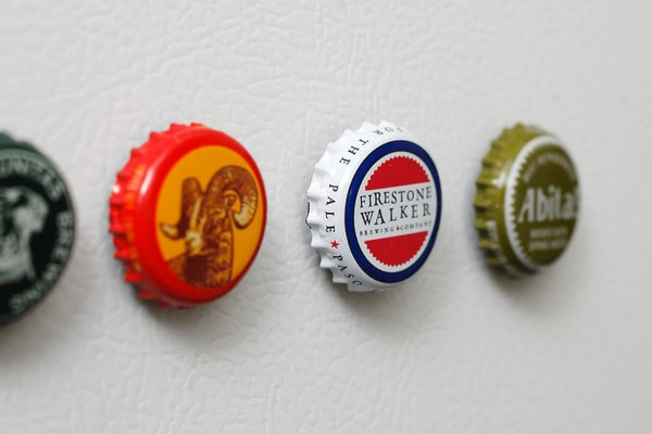 Cheap and Simple Bottle Cap Magnets!