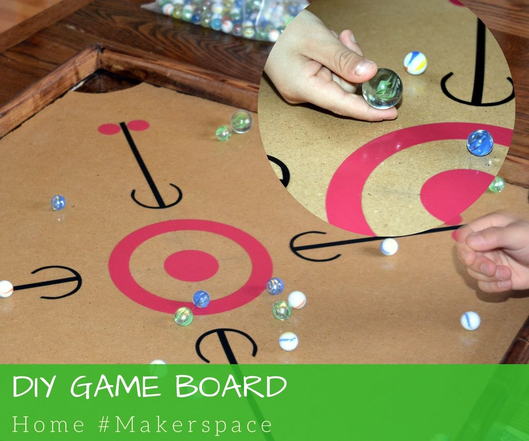 DIY Game Board for Carrom or Marbles