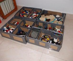 Cardboard and Ductape Lego Storage Box - Caja Para Almacenar Lego De Carton Y Precinto