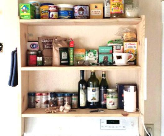 DIY! Above Stove Shelf