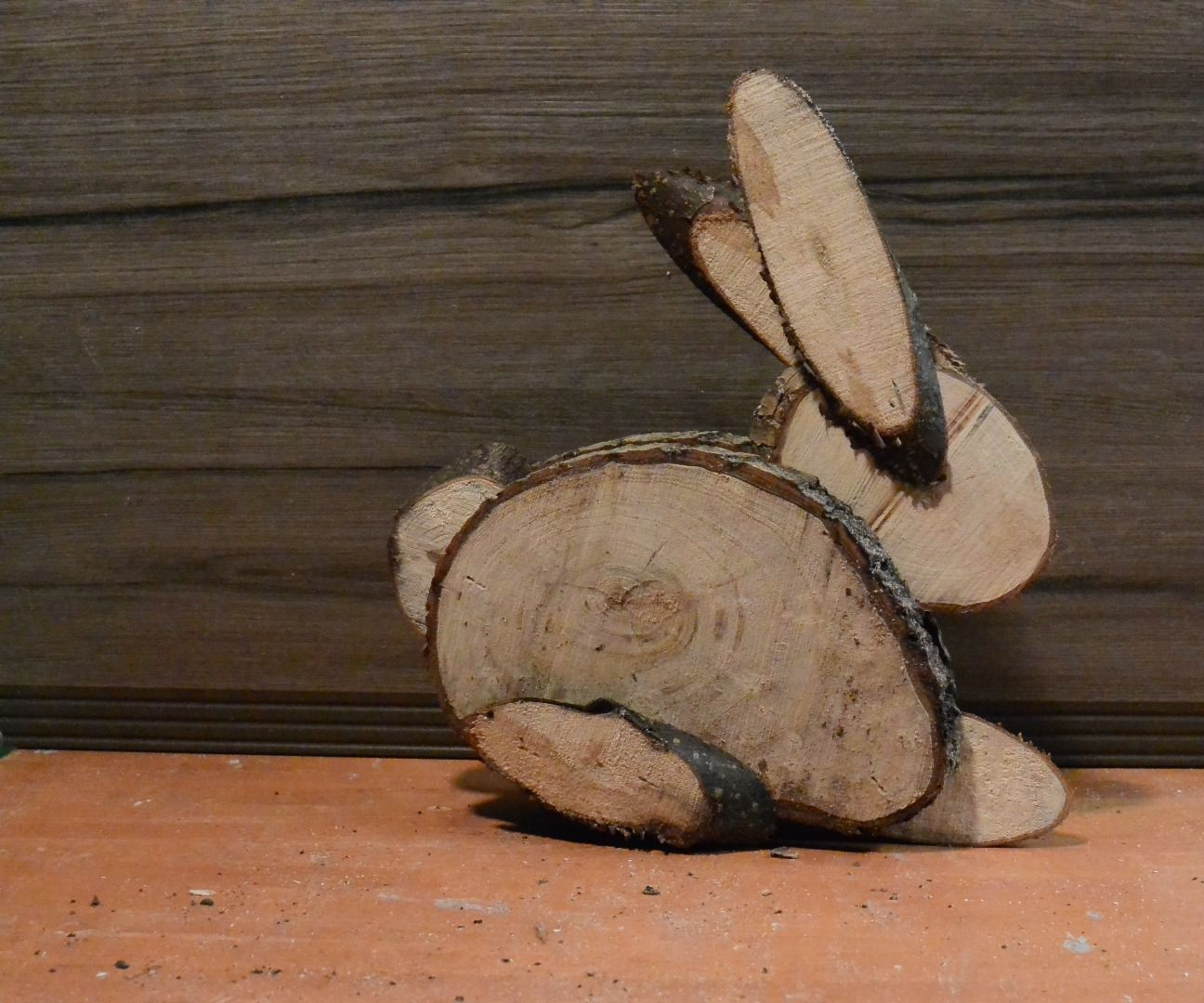 Easter Bunny from logs