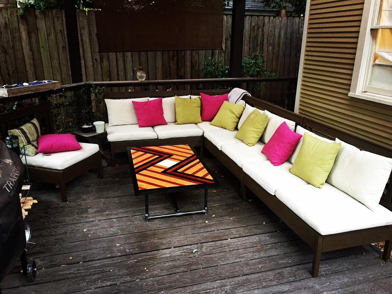 Geometric Plywood Tabletop