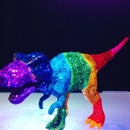 Spectacular Spectra Striped Dinosaurs