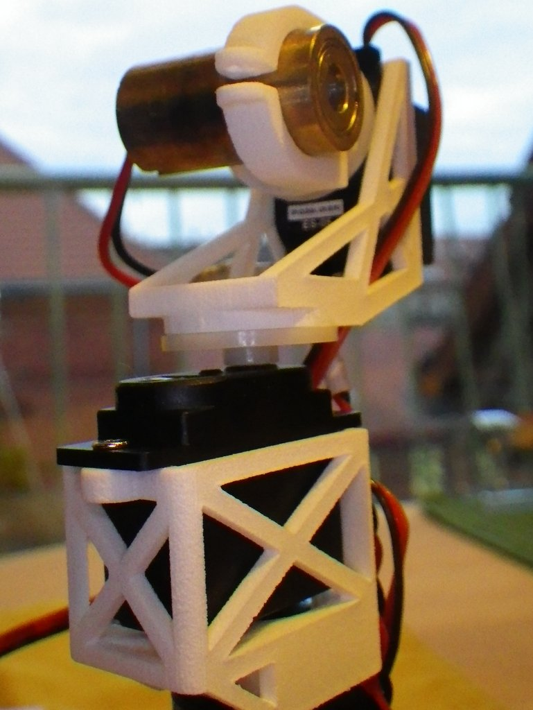 3D Printed Pan-Tilt Camera/Laser Tripod Mount