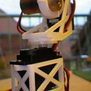 3D Printed Pan-Tilt Camera/Laser Tripod Mount