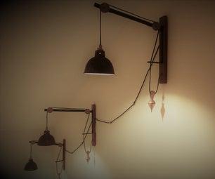 Rustic Vintage Rope Wall Lamp
