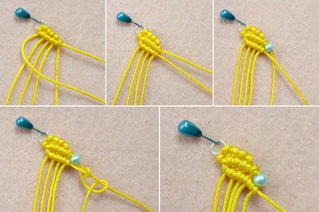 Make the Basic Pattern for Knitted Earrings