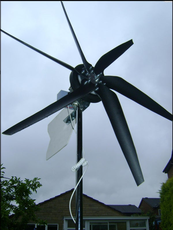 WIND TURBINE MADE FROM SCRAP PARTS