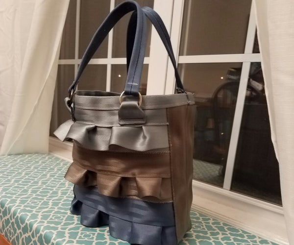 Ruffled Seatbelt Bag