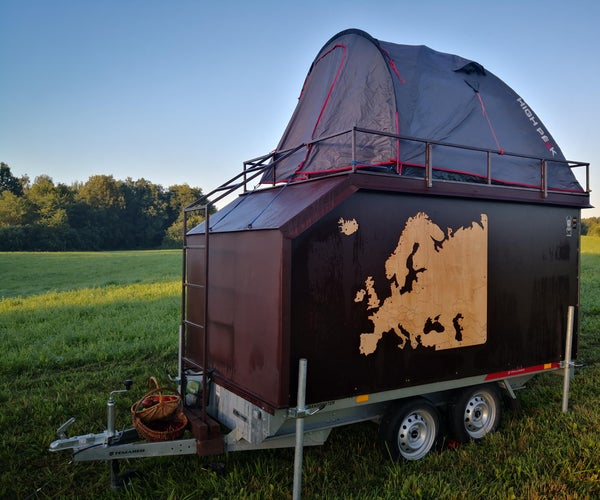 Teardrop Camper, Homemade With Plywood