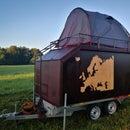 Homemade camper trailer