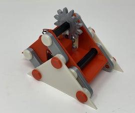 """A Simple 3D Printed """"Walking"""" Mechanism."""