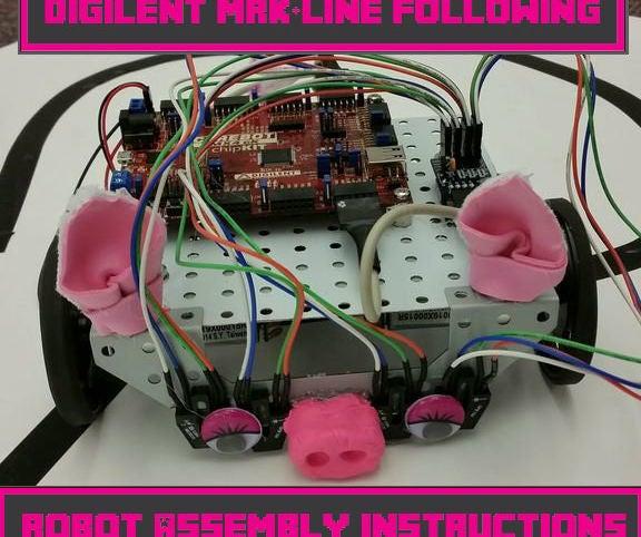 Digilent MRK + Line-Following Robot Assembly Instructions