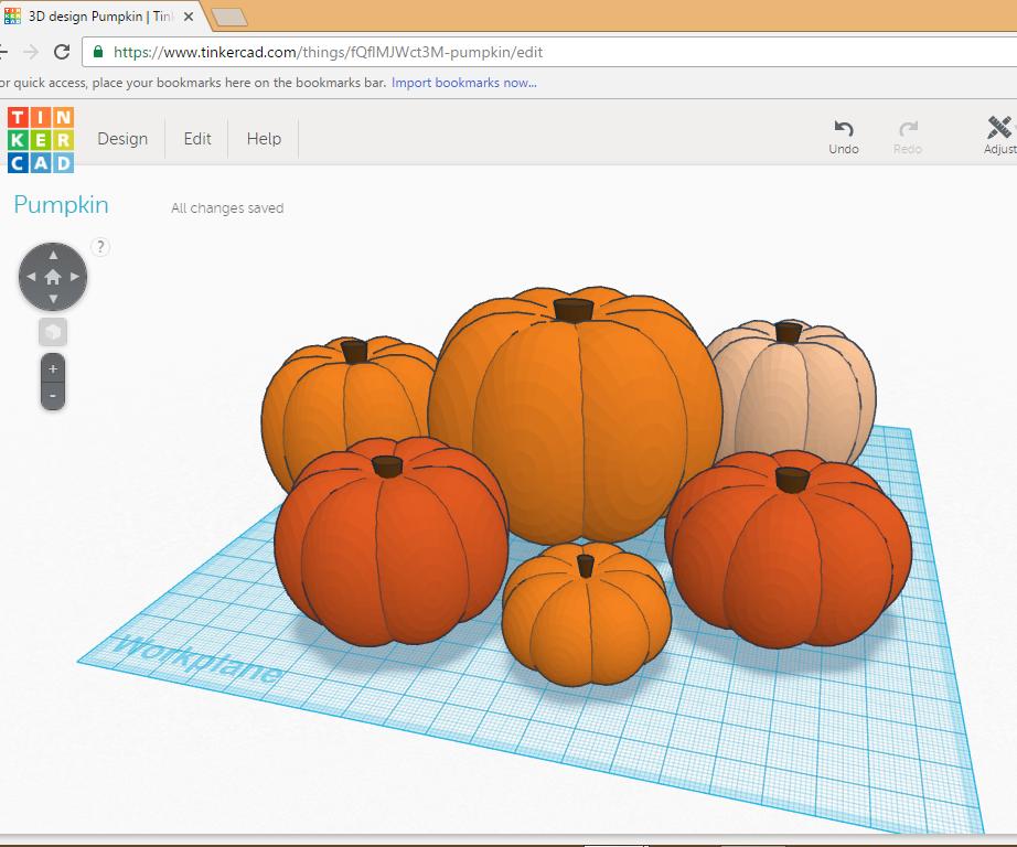 Design a Pumpkin in Tinkercad