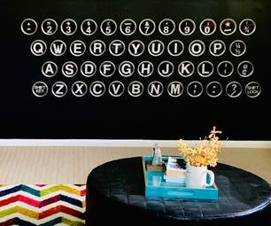 Make a Typewriter Keyboard Wall With Paper + Resin!