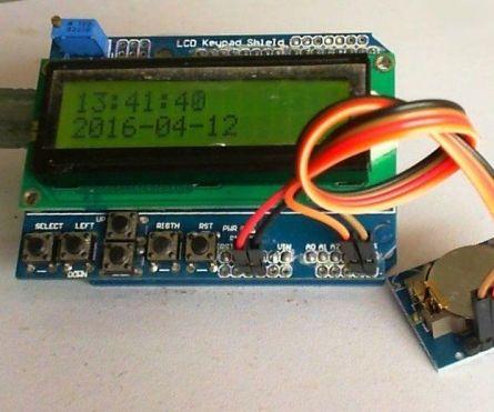 Arduino based LCD Digital Clock