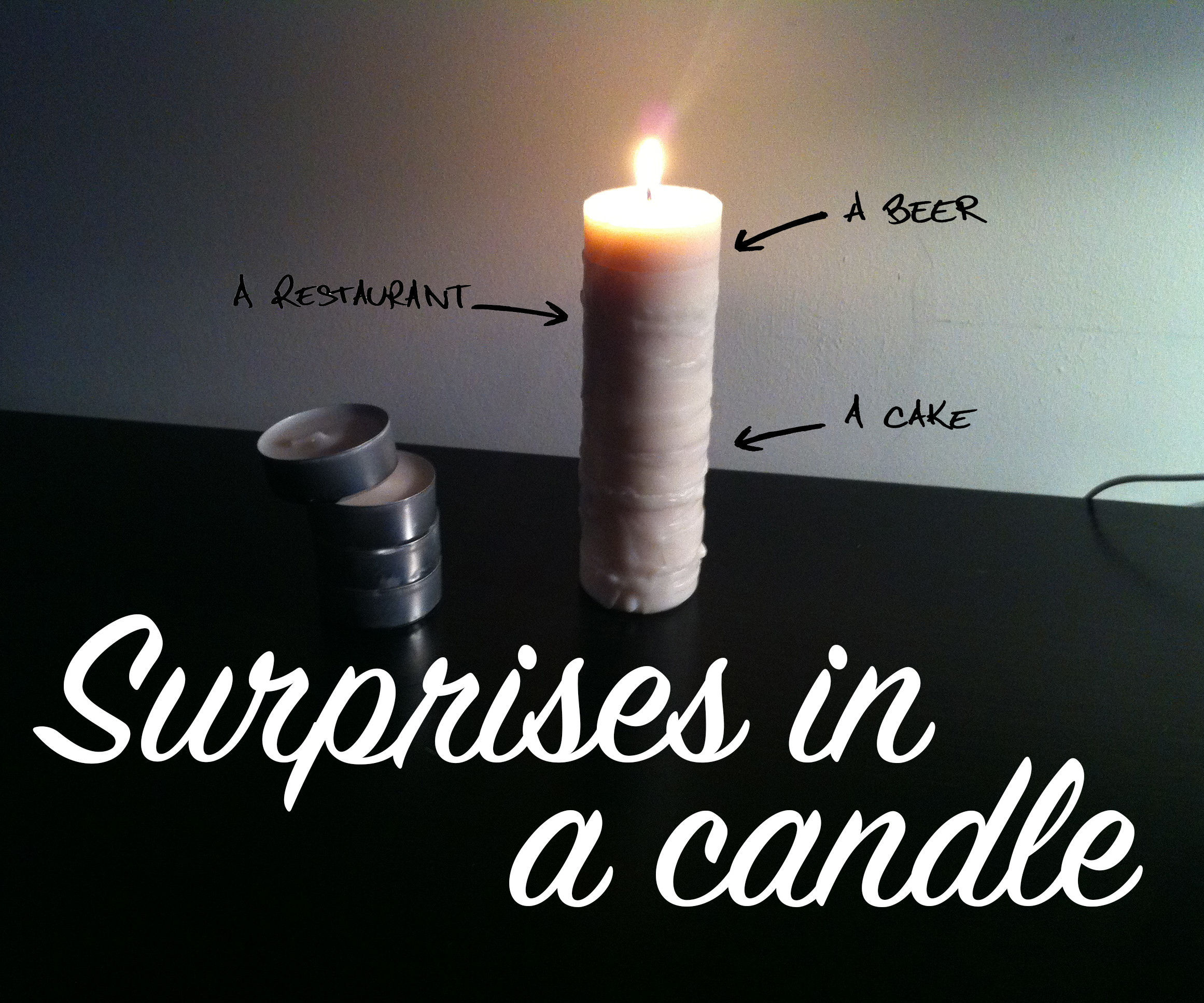 Surprises in a candle