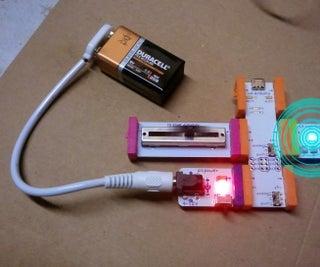 June 2014 Bulid Night: LittleBits Slider Blink