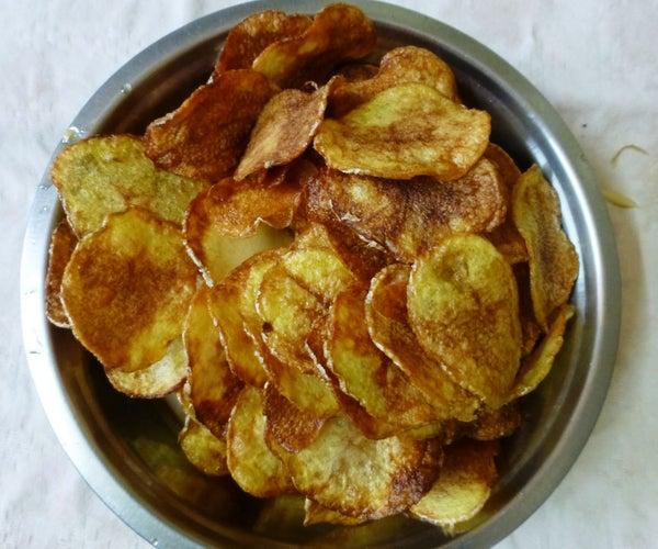 Make Crispy Potato Chips at Home