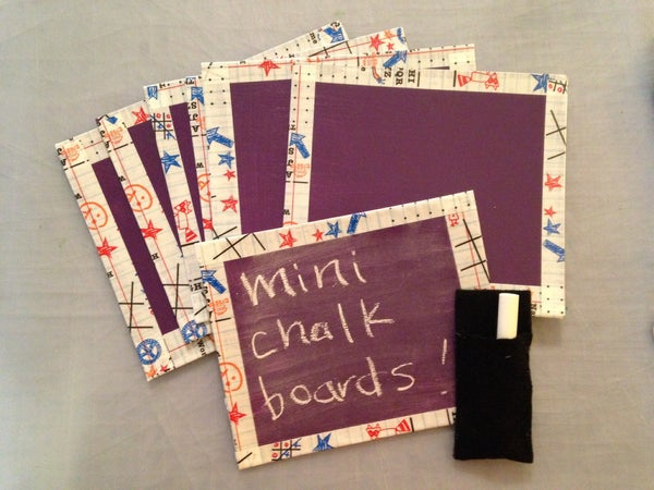 Mini Recycled Chalkboards