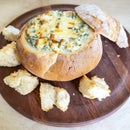 Warm Spinach Dip Cobb Loaf