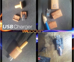 Wooden Micro USB Charger Plug